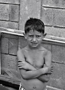 Roma boy from an encampment in Belgrade, Serbia 2009