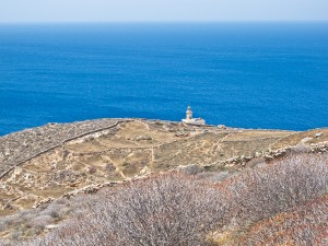 The Aspropounda Lighthouse on Folegandros, looking south.