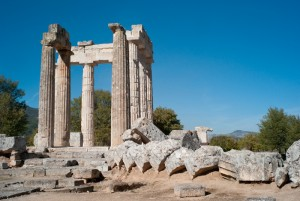 The Temple of Nemean Zeus, Nemea, Argolis, Greece